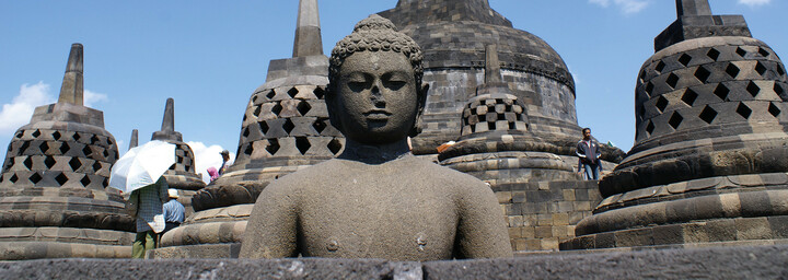 Borobudur Tempel auf Java
