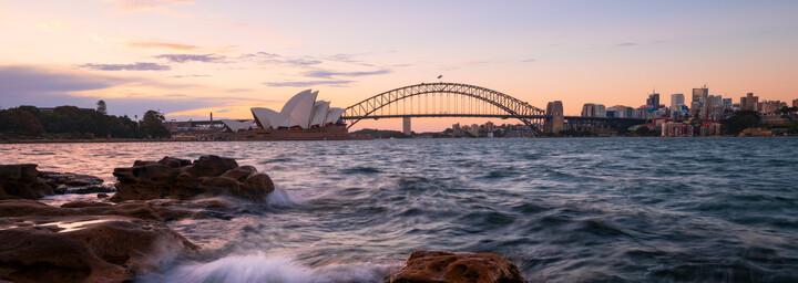 Sydney Opernhaus und Harbour Bridge