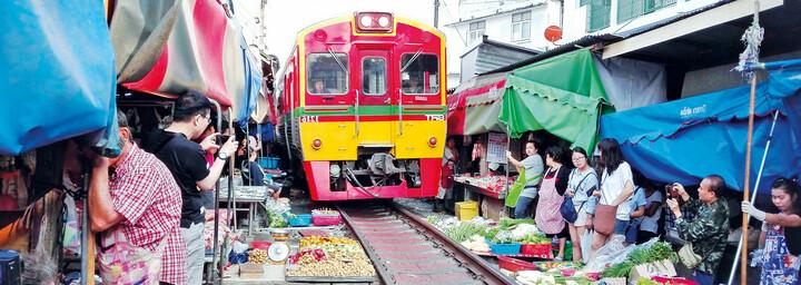 Mae-Klong Zugmarkt