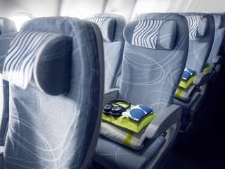 Komfortsitze in der Economy Class von Finnair