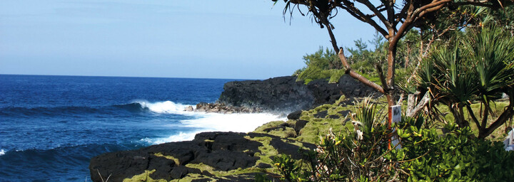 Bucht im wilden Süden La Reunion