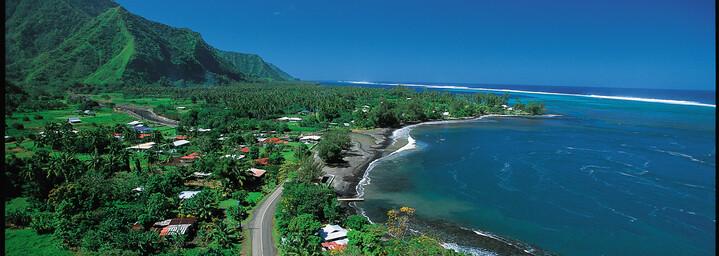 Küstenstraße auf Tahiti