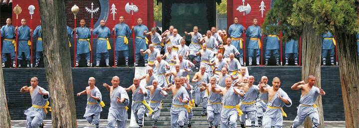 Kampfkunst im Shaolin-Kloster China
