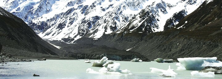 Mount Cook Gletschersee