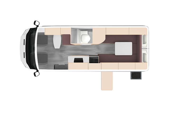 Floorplan bei Tag - KEA 2+1KQ Campervan