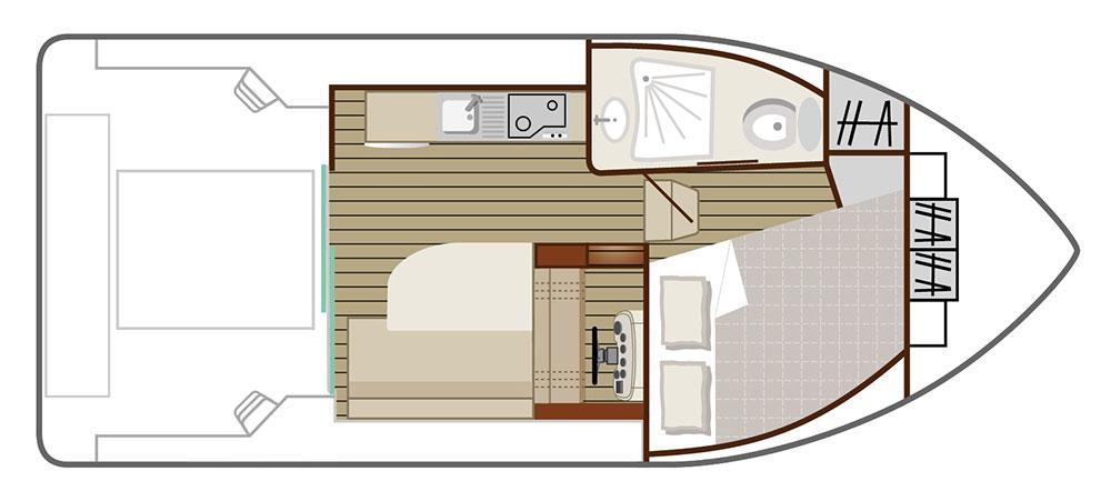 Nicols Hausboote Sedan Primo Plan