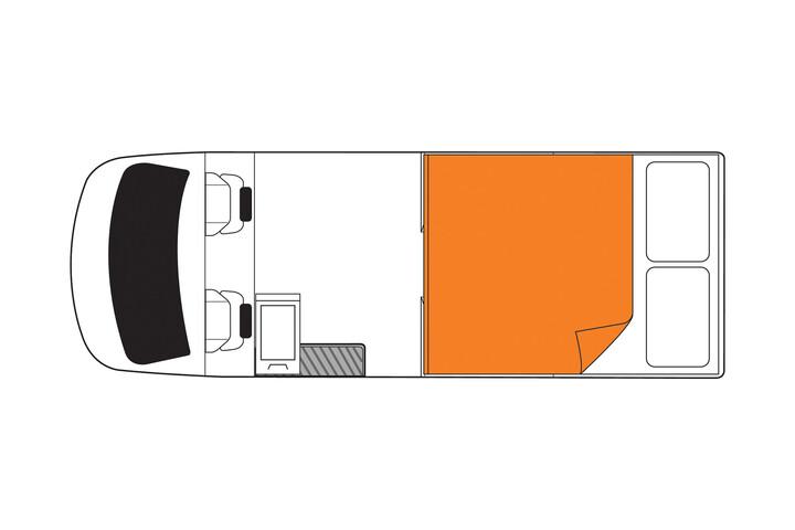 Floorplan bei Nacht des Britz Scout 4WD