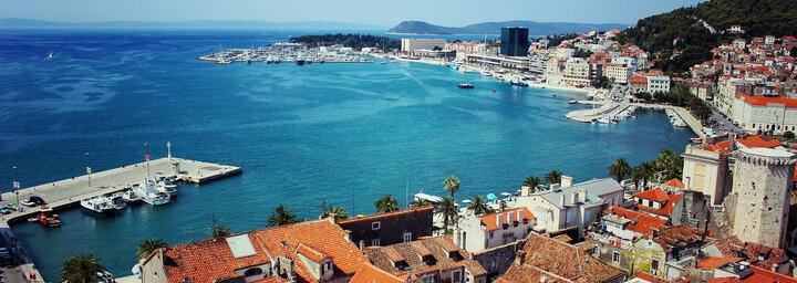 Hafen der Stadt Split in Kroatien