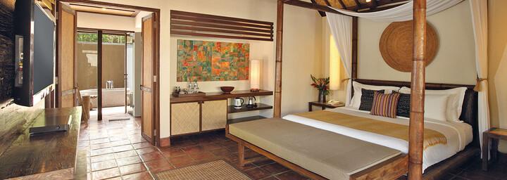 Zimmerbeispiel des Jeeva Klui Resort auf Lombok