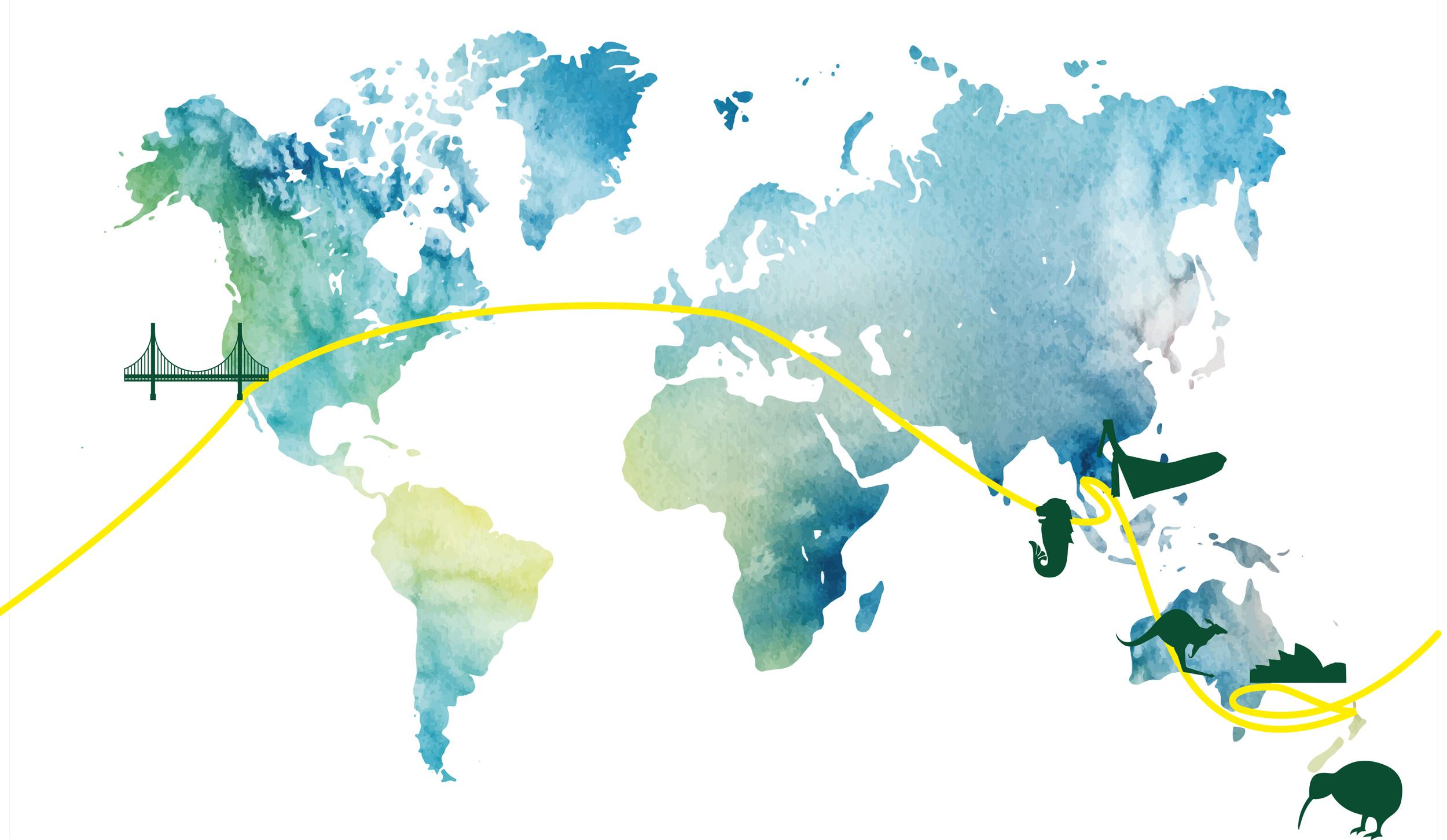 Karte Kulinarisch um die Welt