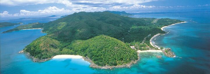 Insel Praslin von oben