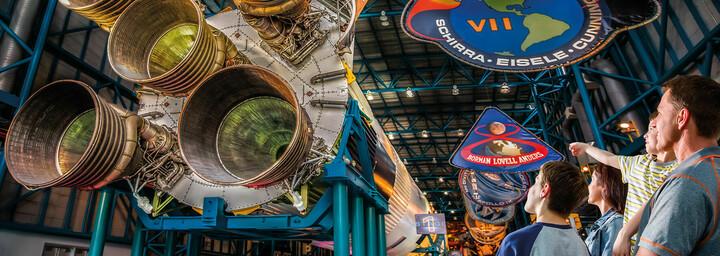 Besucher im Kennedy Space Center
