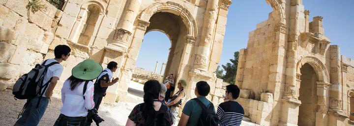 Romanische Ruinen in Jerash