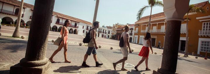 Town-Square in Cartagena Kolumbien