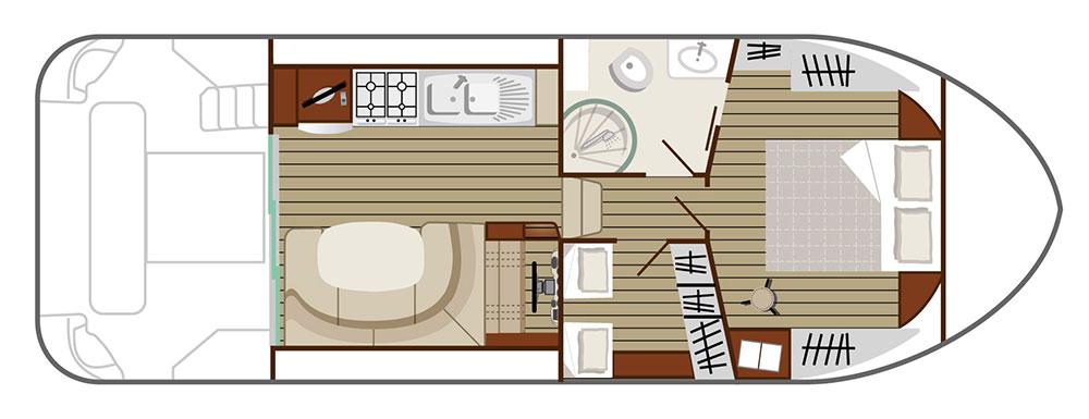 Nicols Hausboote Estivale Quattro S Plan
