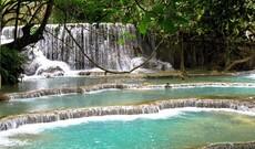 Fahrradtour zum Kuang Si Wasserfall