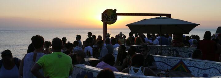 Rick's Café bei Sonnenuntergang