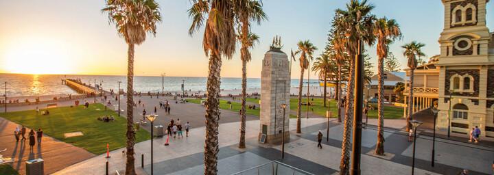 Adelaide - Moseley Sqaure am Glenelg Beach