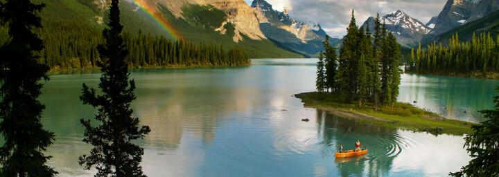 Jasper Nationalpark See mit Kajak