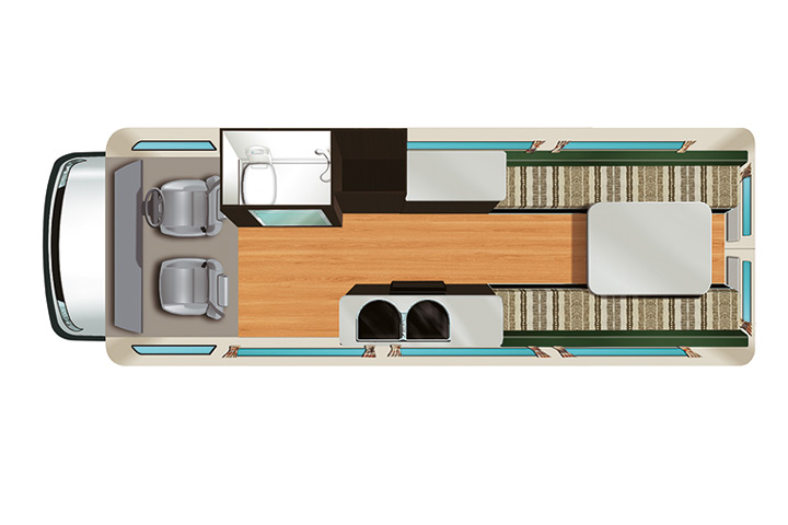 Floorplan bei Tag - Apollo Euro Tourer