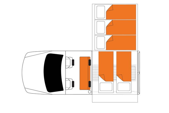 Floorplan bei Nacht des Britz Safari Landcruiser