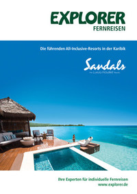 Cover Sandals Resorts Broschüre