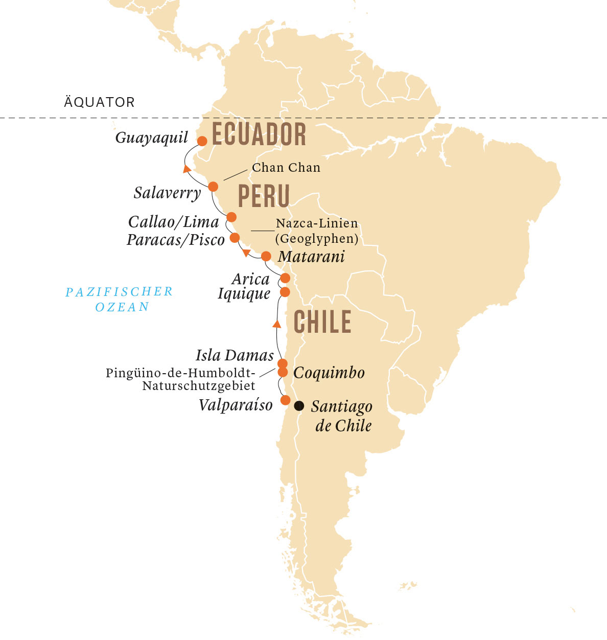 Peru Karte Südamerika.Südamerika Chile Peru Expedition Kreuzfahrten Explorer De
