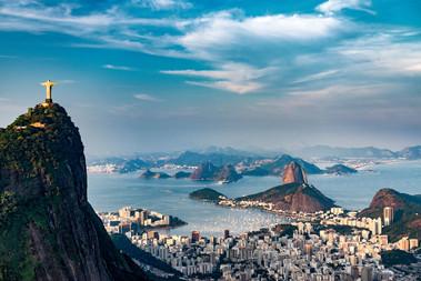 Christus Statue Ausblick Rio de Janeiro