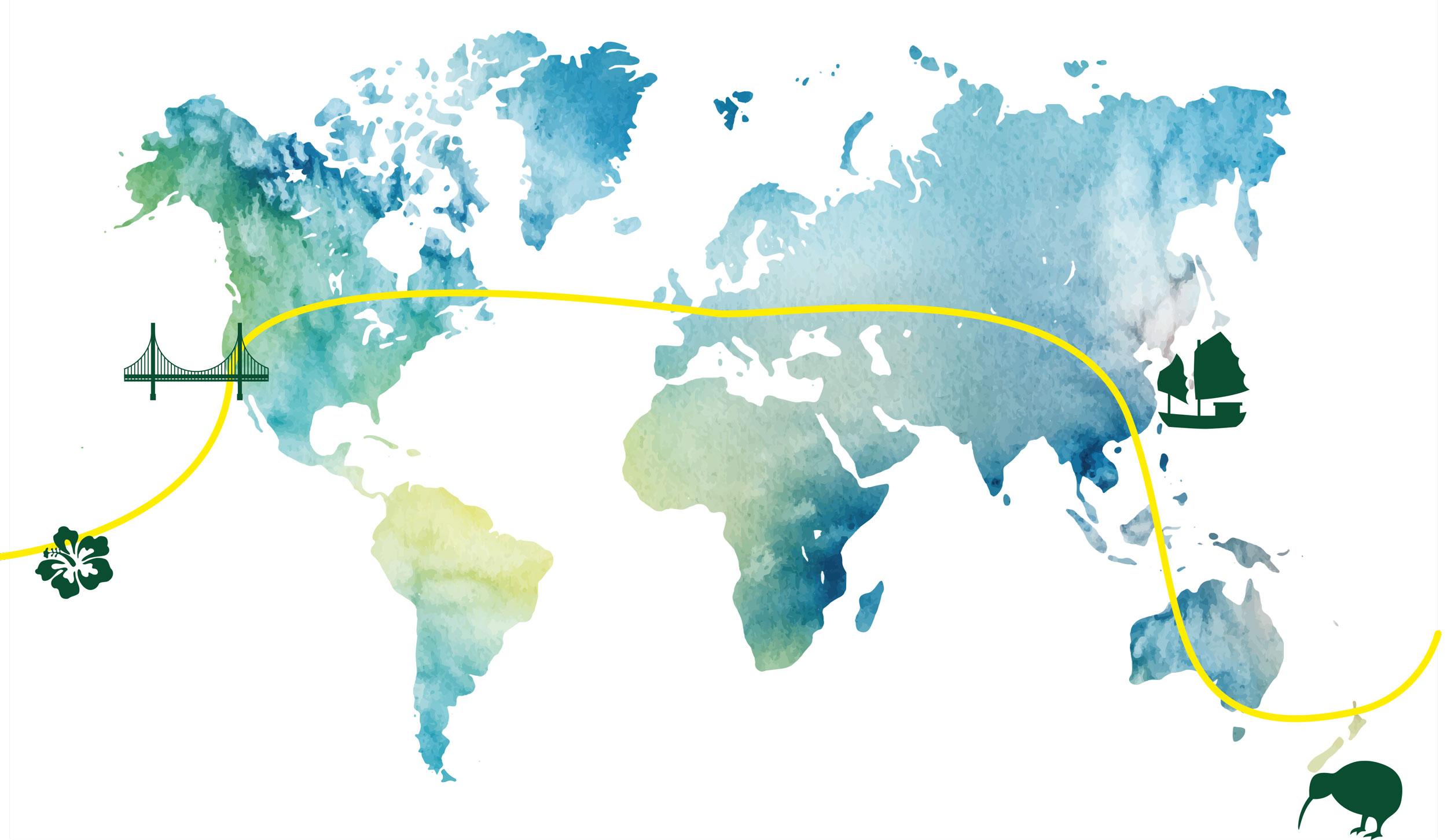 Weltreisen Karte