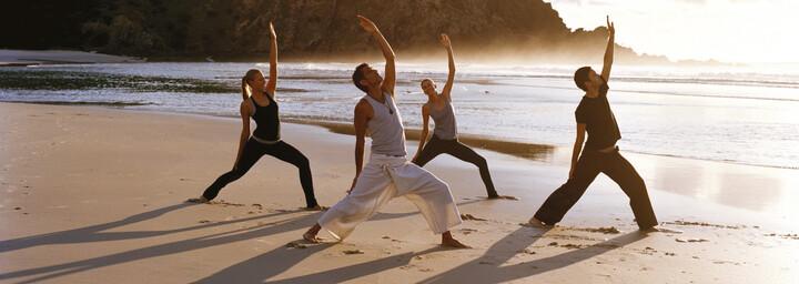 Byron Bay Yoga am Strand