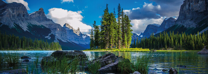 Maligne Lake im Jasper Nationalpark