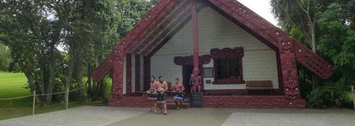Reisebericht Neuseeland - Maori Haus in Waitangi