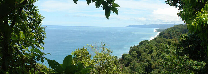 Blick von Lodge auf den Pazifik