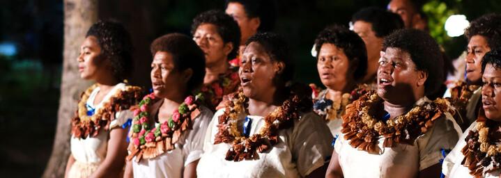 Traditioneller Tanz - Blue Lagoon Cruises Fiji