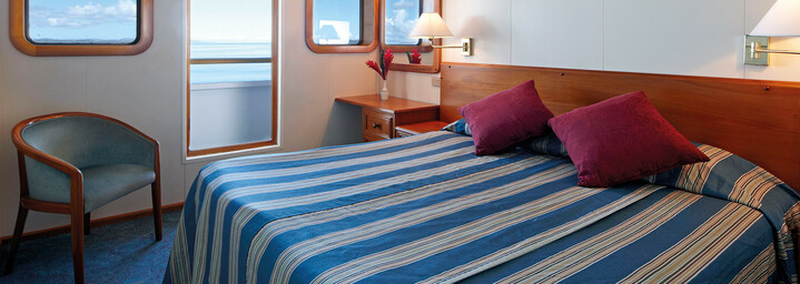 """Beispiel Stateroom - Kreuzfahrtschiff """"MV Reef Endeavour"""" Captain Cook Cruises"""