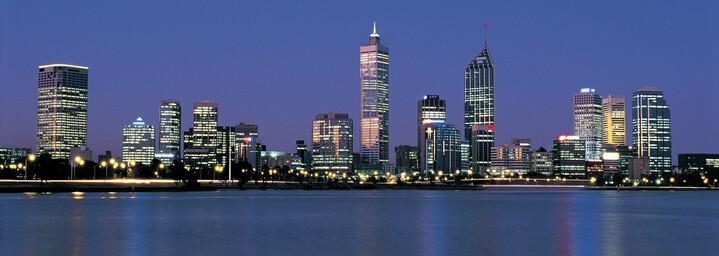 Skyline Perth am Abend
