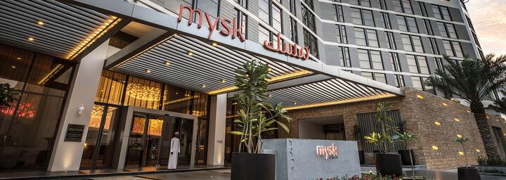 Außenansicht des Mysk Al Mouj by Shaza Hotel in Muscat