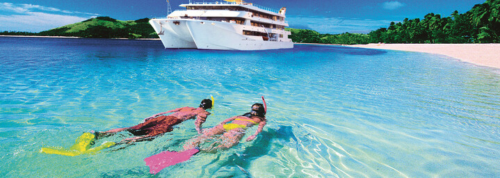 "Schnorchler - Kreuzfahrtschiff ""MV Fiji Princess"" Blue Lagoon Cruises"
