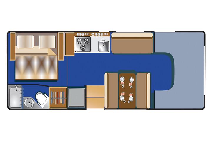 Floorplan bei Tag des C 25 - 27 ft