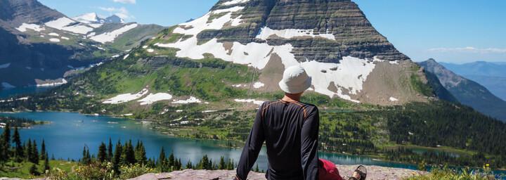 Wanderer im Glacier Nationalpark Montana