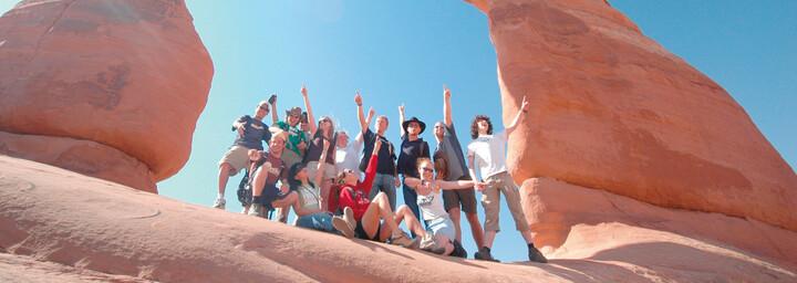 Wandergruppe im Arches Nationalpark