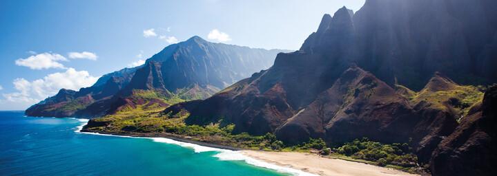 Küstenlinie von Kauai