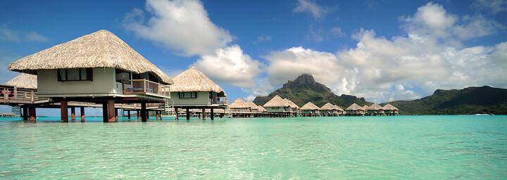 Overwater Bungalows des Le Méridien Bora Bora