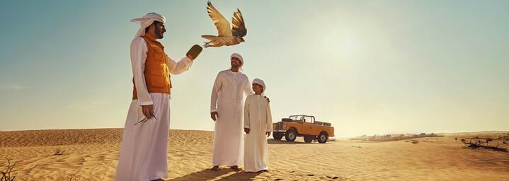 Falkner in Abu Dhabi