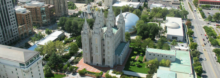 Salt Lake City der Mormonen Tempel