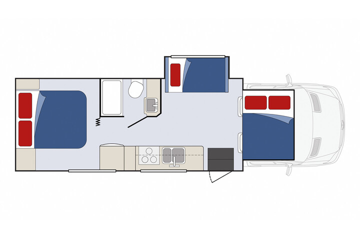 Floorplan bei Nacht des Sunrise Escape