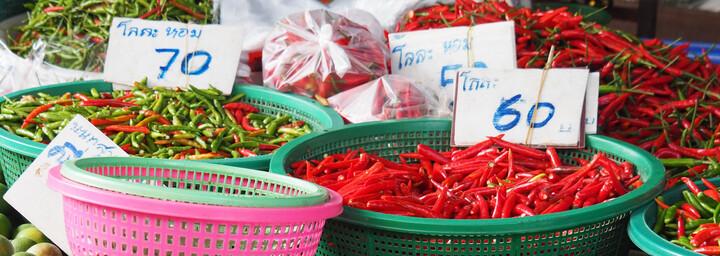Thailändische Küche Zutaten