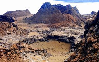 Galápagos Reisebericht - Insel Bartolomé Vulkanlandschaft