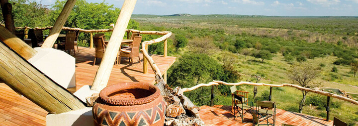 Ongava Lodge Etosha Nationalpark Blick von der Terrasse