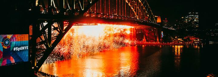 Sydney Feuerwerk - Harbour Bridge